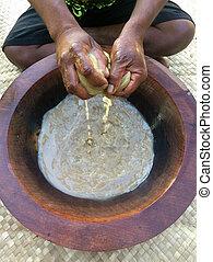 tradizionale, nazionale, bevanda, Figi,  kava