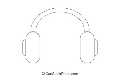 Vector - Headphones - Outline - Vektor - Kopfhoerer - Kontur...