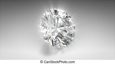 Asscher Cut Diamond - Asscher cut diamond on gray background...