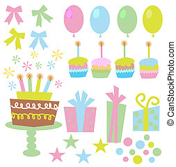 birthday icons - different birthday icons in nice colors