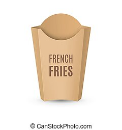 Packaging for French Fries - Fast Food Icon. Empty Carton...