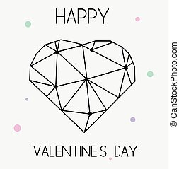 Artistic creative St Valentines day card with geometric...