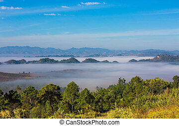 landscape panorama Kalaw Shan state Myanmar - beautiful...
