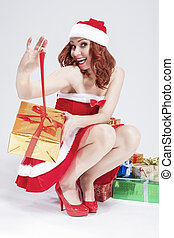 Christmas and New Year Concept and Ideas. Positive Caucasian...