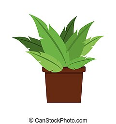 plant pot decoration office nature vector illustration eps...