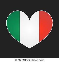 Italy heart.