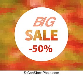vector big sale sign
