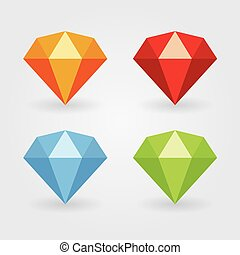 gem icons in various colours