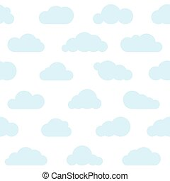 blue clouds seamless pattern