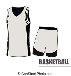 Isolated basketball uniform on a white background, Vector...