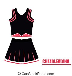 Isolated cheerleading uniform on a white background, Vector...