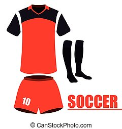 Isolated soccer uniform