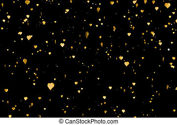 valentine day gold hearts shape rise like frizz champagne...
