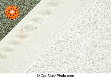 facade plaster - Layers of a facade plaster