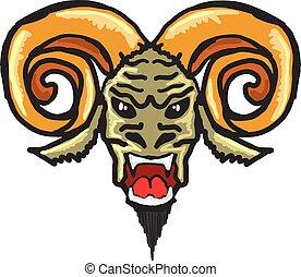 Satan Horned Beast Sketch