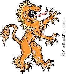 Lion Creature Sketch Vector