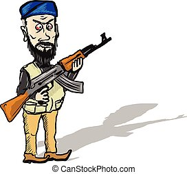 Terrorist Cartoon Sketch