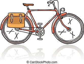 Old School Bicycle Sketch