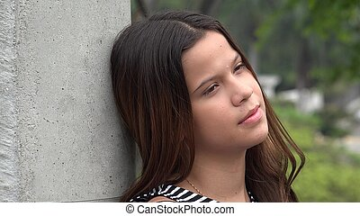 Lonely Teen Girl Unemotional