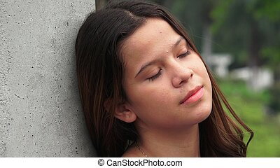 Unemotional And Tired Teen Girl