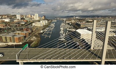 Tacoma Washington Thea Foss Waterway Suspension Bridge City...