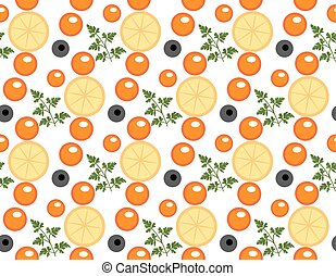 Red caviar seamless pattern. Roe endless background,...