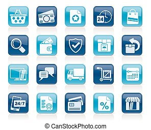 E-commerce and shop icons
