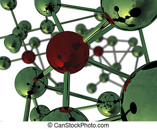Abstract Molecular Structure - Abstract view of molecules 3D...