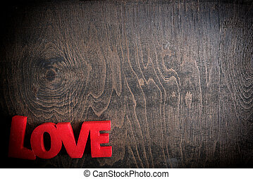 Love sign background - Love sign on the wooden background...