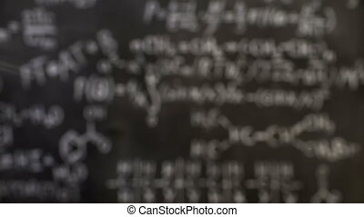 Chemical and mathematical equations wall room background...