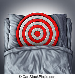 Dreams And Goals - Dreams and goals concept as a bullseye...