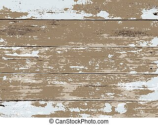 White Washed Wood Boards Background Illustration - An aged...