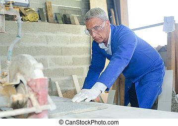 trabajo, artesano, Construya