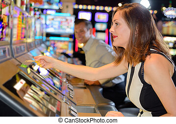 pulling the slot machine ticket