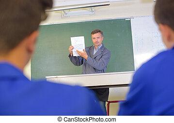 vocational teacher in class