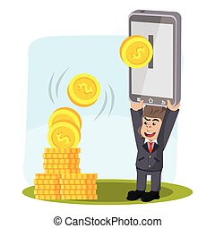 business gorilla ebanking illustration design