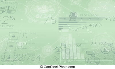Clear Light-green Corporate Background With Abstract...