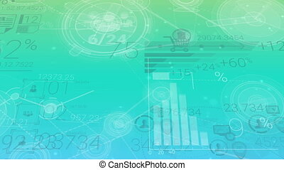 Clear Blue-green Corporate Background With Abstract Elements...