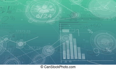Blue-green Corporate Background With Abstract Elements Of...