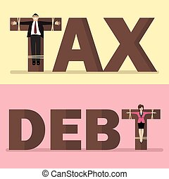 Business people crucified on tax and debt
