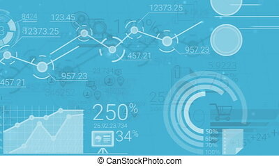 Blue Corporate Background With Abstract Elements Of Infographics