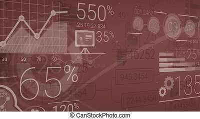 Dark Red Corporate Background With Abstract Elements Of...