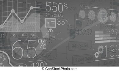 Dark Gray Corporate Background With Abstract Elements Of...