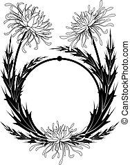 frame with chrysanthemum - vector frame with chrysanthemum...
