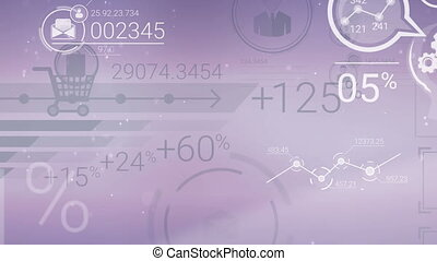 Clear Corporate Background With Abstract Elements Of Infographics
