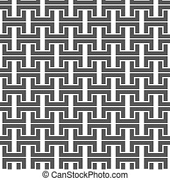 Black and white seamless background, vector illustration. -...