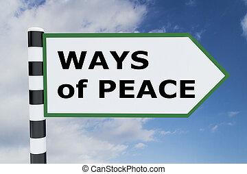 modi, concetto, pace