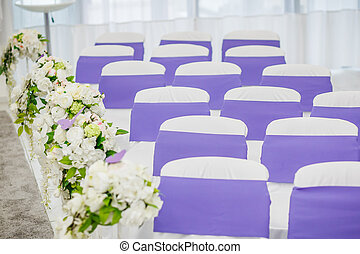 Chairs for the guest on the wedding