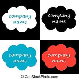 Logo vector shapes collection, logotype conceptual vector...