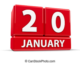 Cubes 20th January - Red cubes - The Twentieth of January -...